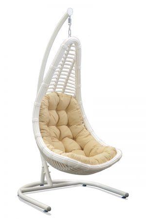 Подвесное кресло из искусственного ротанга